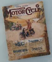 1922 MOTORCYCLE BUYER BOOK MAG HARLEY INDIAN BSA NORTON TRIUMPH JAP VICTORIA FN