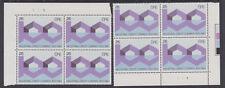 IRELAND, Scott #571: Top & Btm Plate Blocks(2), MNH - 1983 Industrial Credit Co.