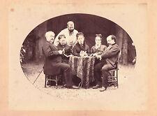 vintage large photo cards players game jeu de cartes Karten Spieler Foto ca 1870