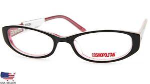 NEW COSMOPOLITAN STYLISH BLACK EYEGLASSES GLASSES PLASTIC FRAME 50-17-135 B25mm