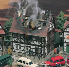 Burning House on Fire Building Kit Vollmer #3728 HO Scale