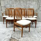 Set of 8 Danish Mid Century Modern Teak Dining Chairs by Benny Linden