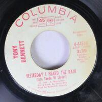 Pop Promo 45 Tony Bennett - Yesterday I Heard The Rain (Esta Tarde Vi Llover) /
