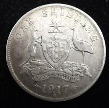 1917 George V Australia Silver Shilling Coin