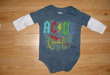 Baby Boys Girls-Ac Dc-For Those About to Rock-We Salute-Bodysuit-Shirt-Photo-3 m