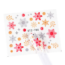Nail Art Water Decals Stickers Christmas Gold Silver Red Snowflakes Stars (S780)