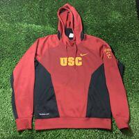 Nike Therma Fit USC Hoodie Medium Sweater Mens Football NCAA