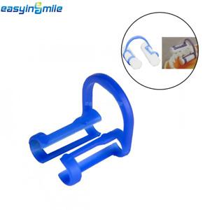 100Pcs Dental Cotton Roll Holder EASYINSMILE Disposable Blue Teeth Cilp Holders