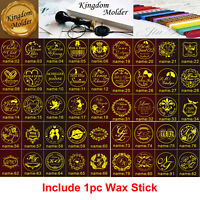 162Style 1pc of Custom Made Your Name Date Initials Wedding Wax Seal Stamp+1 Wax