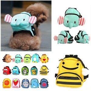 Cute Pet Bag Carrier Dog Canvas Dourable Backpack School Bag Self Small Dog Bag