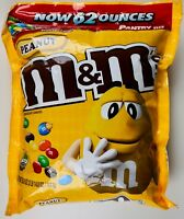 M&M's Peanut Chocolate Candies Family Pantry Size Resealable, 62 or 124 OZ