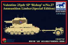 BRONCO 1/35 35077sp Valentine 25PDR SPG évêque w / N ° 27 Limber