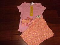 Girls 5 The Company Store Kids Elephant Pink Paisley Print Pajama Set Pajamas