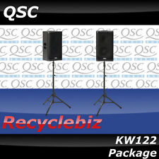 QSC KW122 Package w/ TS-100B Air Powered Speaker Stands