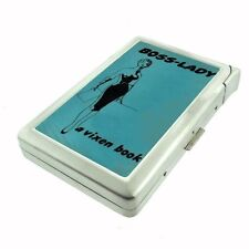 Boss Lady Vintage Vixen Book Woman Cigarette Case with lighter ID Holder Wallet
