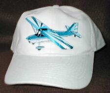 Hat With Citabria Aircraft/Airplane Embroidered Emblem Low Profile Whte Hat R/C