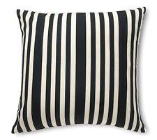 Stripe Decorative Throw Pillow Cover 18x18 Black/Natural