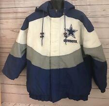 Vintage Dallas Cowboys Big Logo Hooded Jacket Proline By Apex One Men's Size L