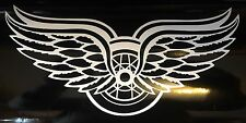 """Detroit Red Wings Double Winged Decal 4"""" x 8"""" Vinyl Decal**FREE SHIPPING**"""