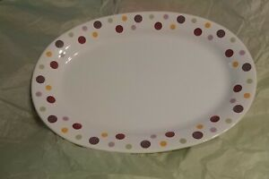Pampered Chef Simple Additions ~ Dots Oval Platter