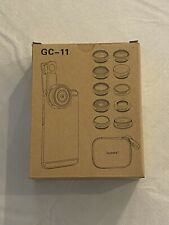 Godefa 11 in 1 Cell Phone Camera Lens Kit Filters, Wide, Macro, Telephoto Gc-11