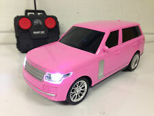 Range Rover Vogue Style Radio Remote Control Car LED 1/16 - Girls Pink