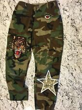 SOJARA VINTAGE GOLD SEGUIN STAR CAMO CARGO PANTS (M) $ 225