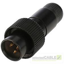 HICON Mini-XLR Stecker 3-pol IP67 Broadcast professional Mutter | HI-XMCM3-HD-B
