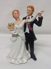 Bride and Groom Wedding Cake Topper Caucasian