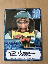 "Star Wars PAUL WESTON Signed ""NIKTO VEDAIN"" Official Pix Fan Days Card ROTJ"