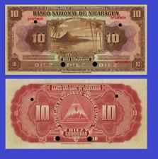 Nicaragua 10 cordobas 1935 UNC - Reproduction