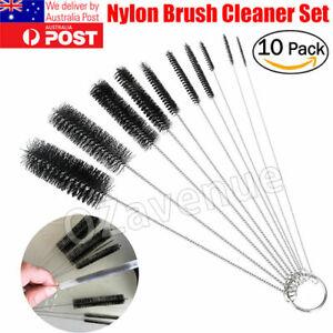 10Pcs/Set Nylon Straw Brush Cleaner Bottle Tube Pipe Small Long Cleaning AU