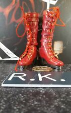 Phicen 1/6 Scale Painkiller Jane Action Figure's red leather boots / shoes only