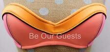Victoria's Secret Orange Pink Black Strapless Bikini Swim Suit Top 32B
