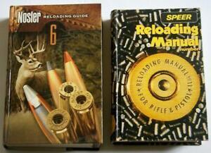 2 Hardcover RELOADING MANUALS NOSLER 6 (2007), SPEER No. 11 (1988)