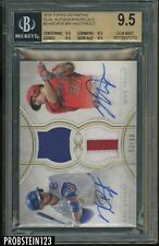2018 Topps Definitive Kris Bryant Mike Trout Dual AUTO Patch 3/10 BGS 9.5 w/ 10