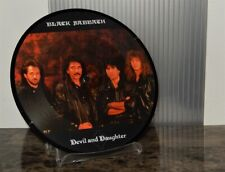 "BLACK SABBATH devil and daughter '89 UK LTD 7"" VINYL PICTURE DISC headless cross"