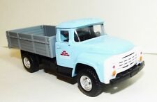 Russian flat bed truck ZIL-130. Metal and plastic toy. 1/52 scale. No box. Blue