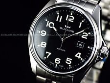 Glycine 3890.19ATS-MB Mens Combat Swiss Made Automatic Black Dial Sapphire Watch