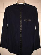 NWT Collection Thomas Mason® for J.Crew leather-trim tunic navy SZ0 A3055 $198