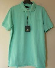 Massimo Dutti Mens Short Sleeve Polo Shirt Top Medium BNWT* Mint Uk Freepost
