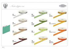 Nastro doppio raso 25 mm rotolo bobina da 50 mt vari colori fai da te