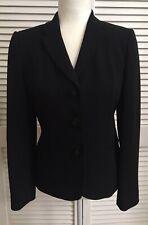 Ann Taylor 2 Piece Dressy Black Crepe Blazer Jacket & Sleeveless Top Size 4 EUC