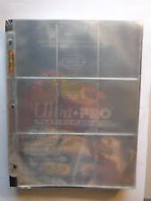 10 Ultra PRO Platinum Series 9-Pocket Trading or Gaming Card Album Pages 10pages