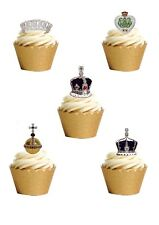 23 STAND UP British Royal Family Crown Jewels Edible Wafer Paper Cake Toppers