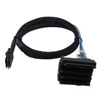 0.5m Mini SAS 36P SFF-8087 to 4 SAS 29P SFF-8482 Cable with 15P SATA Power