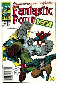 Fantastic Four #348 Marvel Comics HULK Spidey GHOST RIDER Art Adams Art 1991 NM
