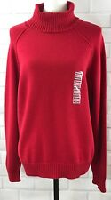 NWT Karen Scott Sweater Womens Size XXL Red Amore Cable Knit Turtleneck Cotton