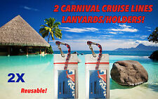 2 Carnival Cruise Lines I.D.Holders & Lanyards ZIP LOCK SEALED
