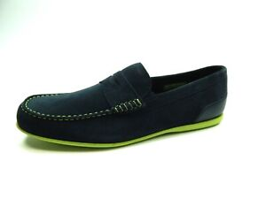 ROCKPORT MALCOM PENNY CH8931 NAVY WATER AND STAIN RESISTANT MEN SHOES